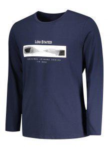 250;reo De Lou Azul shirt Estados Purp Gr Manga 2xl Larga 225;fica T g1qvw1tS