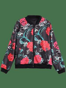 Bombardero Floral De Estampado Chaqueta Con S Floral 6v5Pq