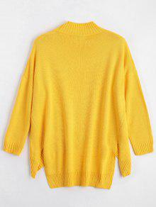 2713b39573 ... High Low Oversized High Neck Sweater ...