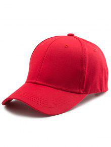 Back Letters Embroidery Baseball Hat - Red