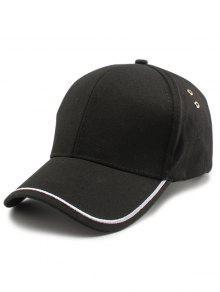 خط عادي التطريز قبعة بيسبول - أسود