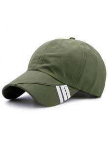 شريط قطري مزين قبعة بيسبول - الجيش الأخضر