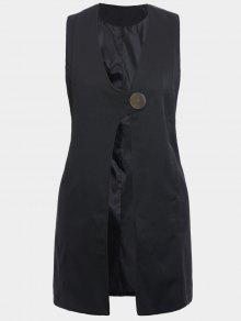 Plus Size Longline Waistcoat - Black Xl