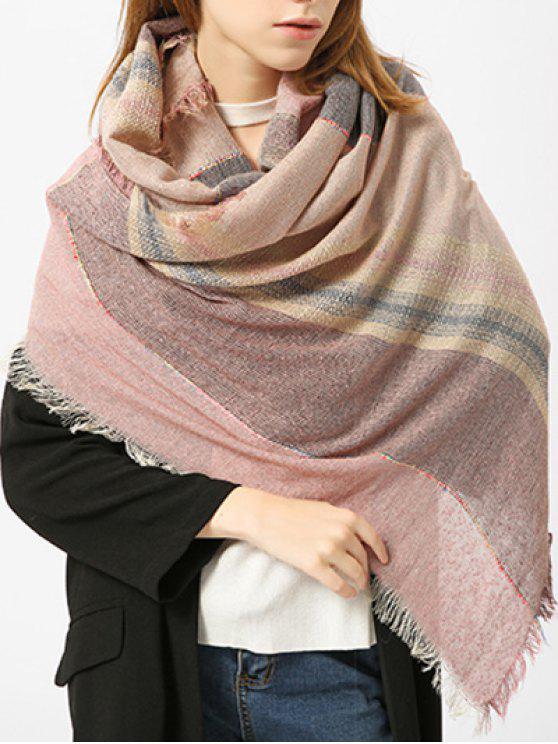 Cachecol misturado com algodão à moda - Rosa Claro