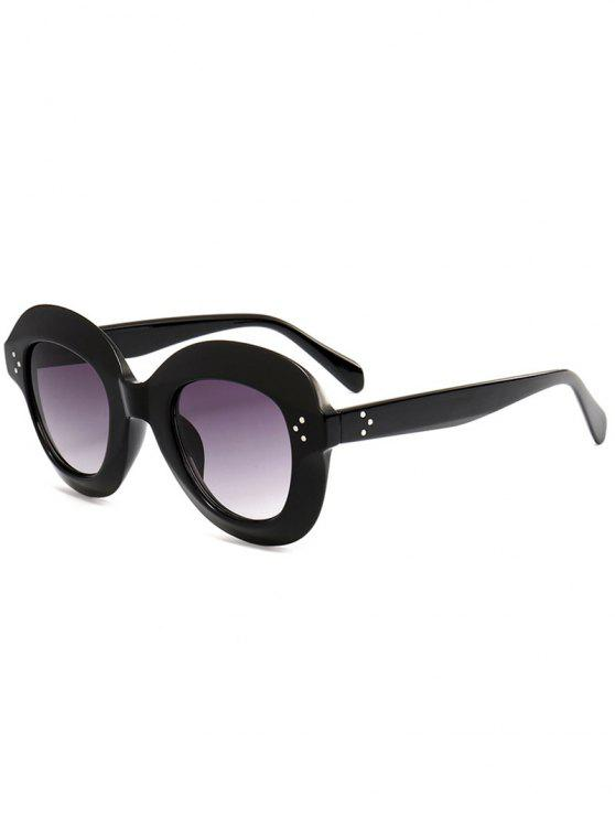 lady Wide Frame Ombre Street Snap Sunglasses - BLACK