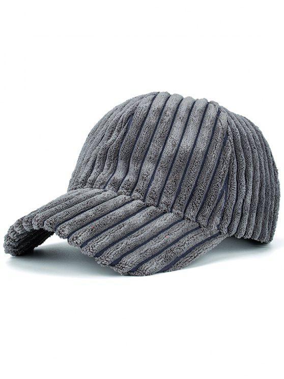 Chapéu de basebol de laranja com foda de inverno quente - Cinza Escuro