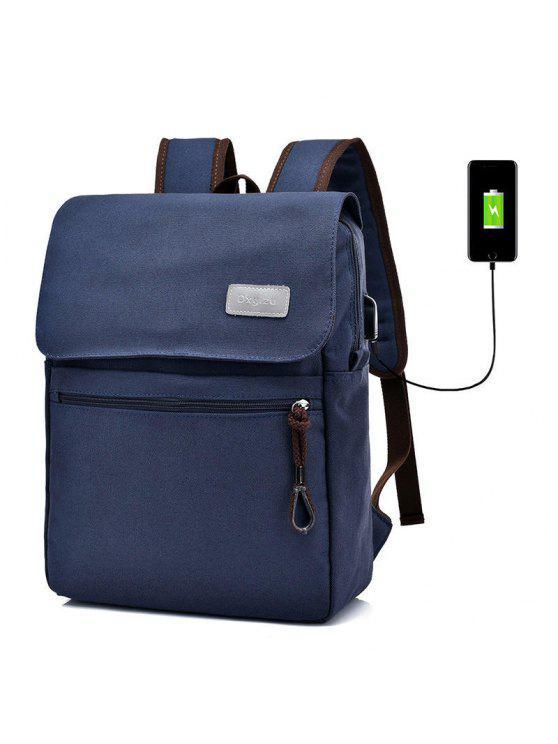 حقيبة الظهر بسحاب وجيب - أزرق