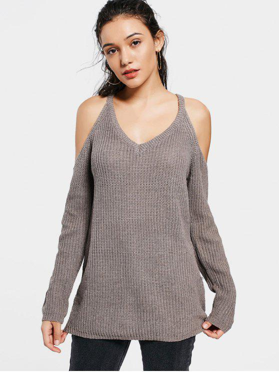 Suéter de Largo Plain - grisáceo Marrón Talla única
