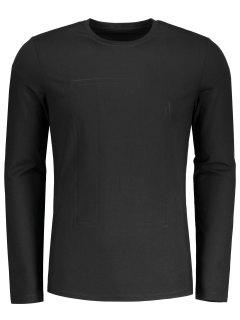 Fitted Textured Sweatshirt - Black M