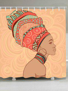 Waterproof African Tribal Style Shower Curtain - W79 Inch * L71 Inch