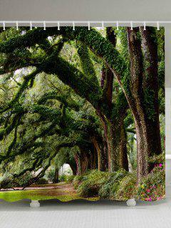 Forest Trees Avenue Imprimer Rideau De Douche Imperméable à L'eau - Largeur71pouces*longueur79pouces