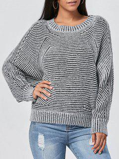 Pullover Ribbed Dolman Sleeve Sweater - 2xl