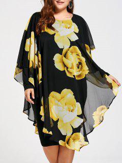 Floral Plus Size Chiffon Formal Dress - 5xl