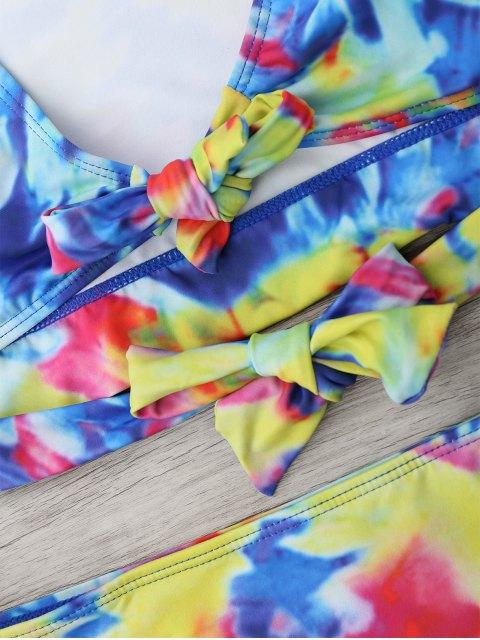 chic Tie Dye High Waisted Bikini Set - COLORMIX S Mobile