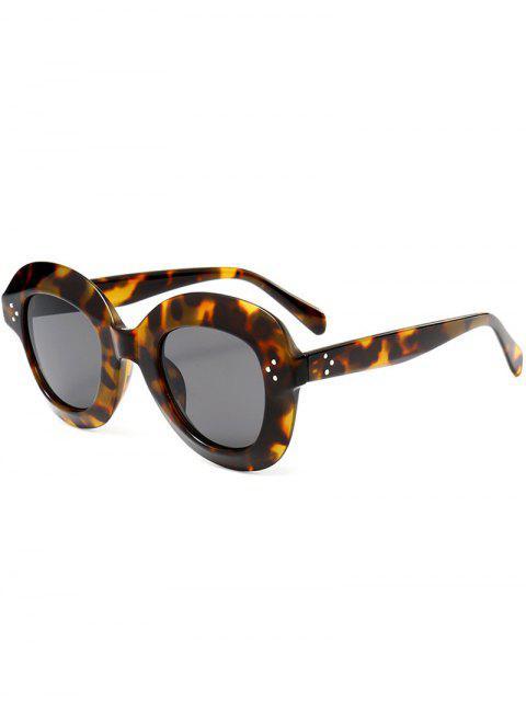 Farbverlauf Weite Rahmen Modische Sonnenbrille - schwarz Leopard Print   Mobile