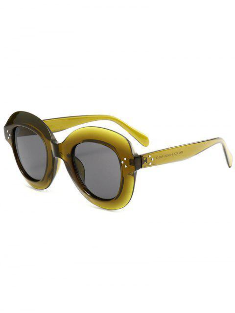 Farbverlauf Weite Rahmen Modische Sonnenbrille - Grün  Mobile