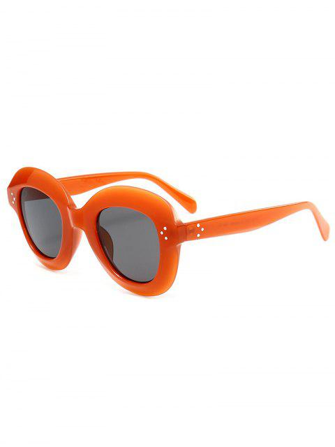 ladies Wide Frame Ombre Street Snap Sunglasses - CLARET  Mobile