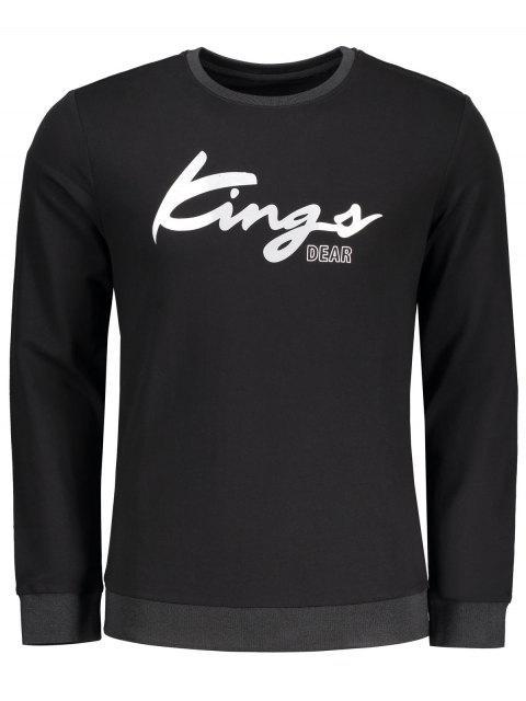 Sweat-shirt à Message - Noir 2XL Mobile