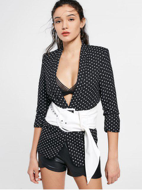 online Polka Dot Blazer with Pockets - DOT PATTERN M Mobile