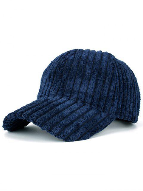 fancy Winter Warm Faux Fur Striped Baseball Hat - CADETBLUE  Mobile