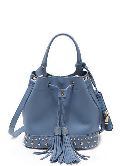 best Drawstring Studded Tassels Handbag -   Mobile