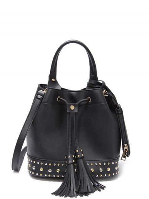 new Drawstring Studded Tassels Handbag -   Mobile