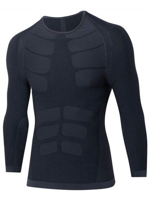 Raglanärmel Schnelltrockendes Dehnbares Langarmeliges T-Shirt - Grau M Mobile