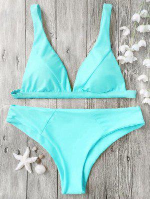 Top Acolchado De Bikini Y Parte Inferior - Cián Xl