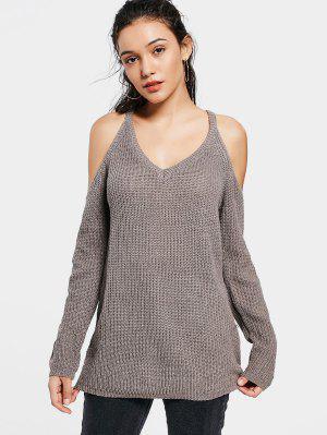 Suéter De Largo Plain - Grisáceo Marrón