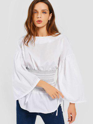 Blusa Traseira Com Blusas Com Zíper - Branco