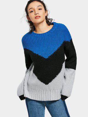 Crew Neck Contrast Sweater - Multi Xl