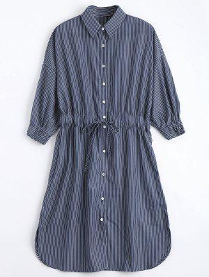 Robe à Manches Courtes à Rayures - Rayure S