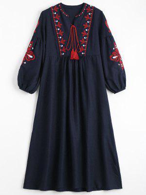 Robe De Perles à Fleurs - Bleu Violet