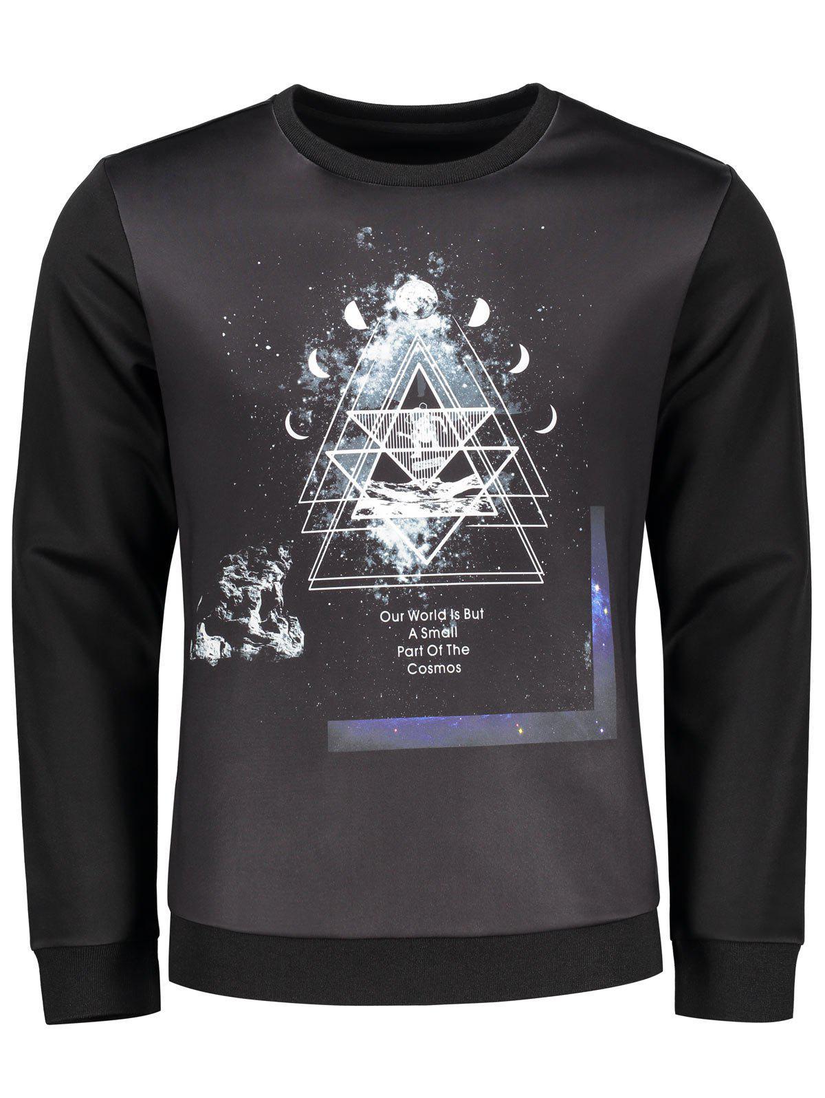 Sweat-shirt Ras du Cou Imprimé Espace