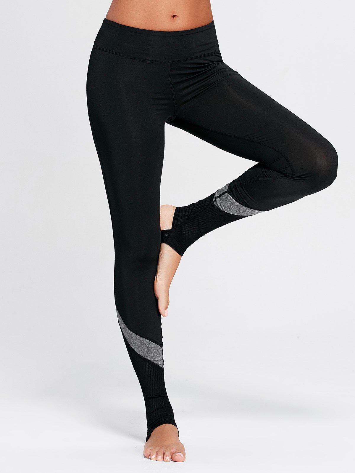 Mesh Panel Workout Stirrup Leggings 222188103