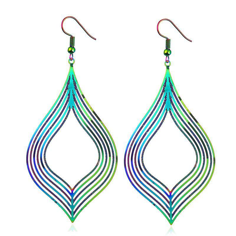 Statement Alloy Fish Hook Earrings 222977102
