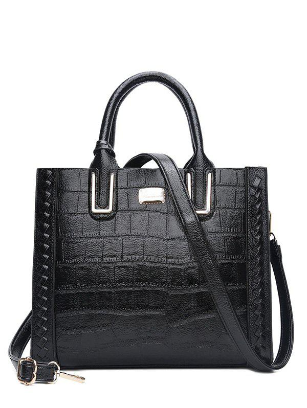 Weave Textured Leather Tote Bag 223088201