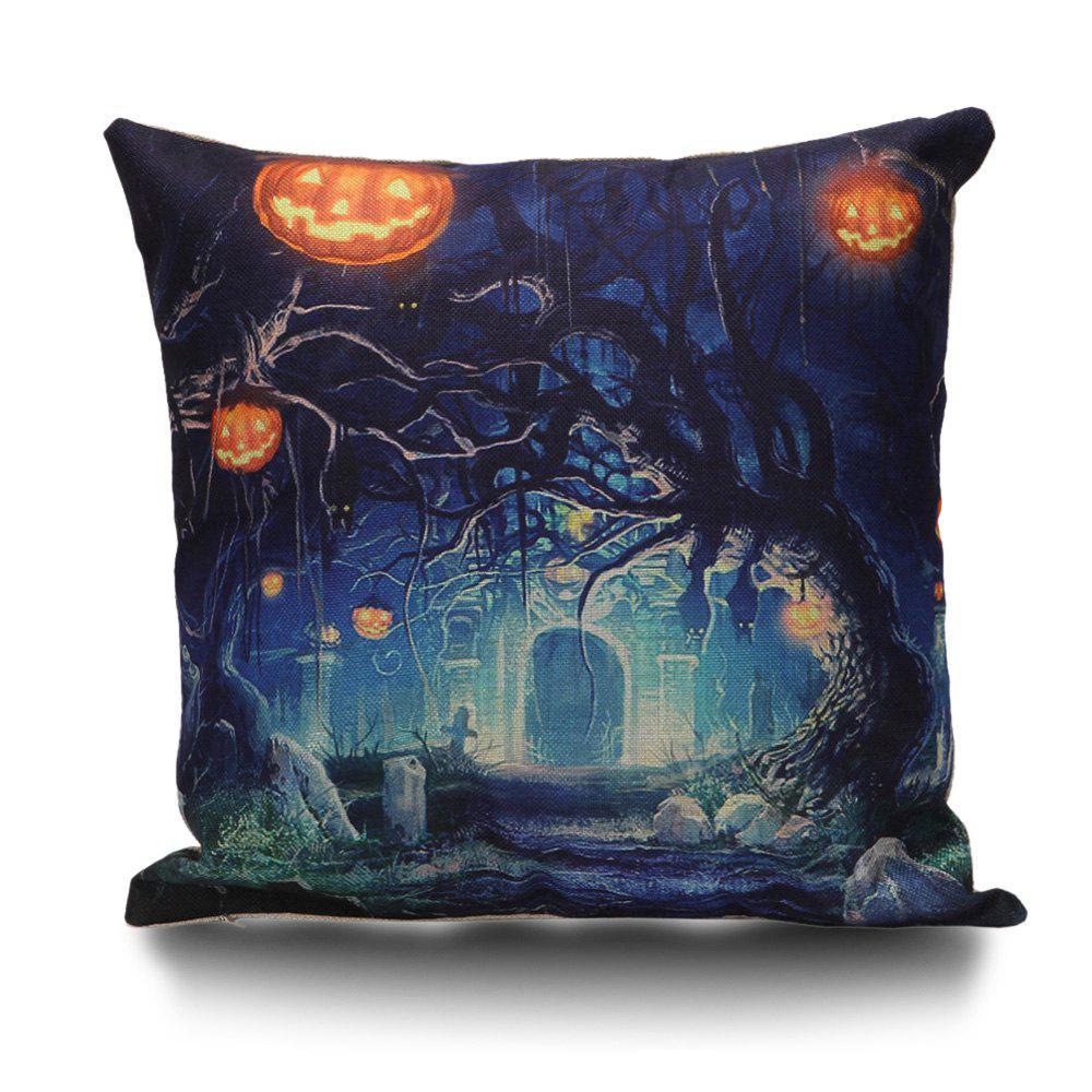Armoires de Halloween Dessus de citrouille Linge de lit Taie d'oreiller