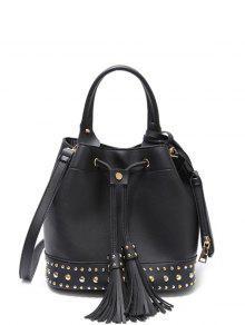 حقيبة اليد مشد شرابة - أسود