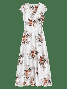 Maxi Wrap Blanco Asim M Vestido Floral 233;trico CE4tTwTq