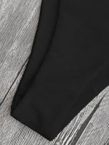 9c0a767c6b4 23% OFF] 2019 Low Waisted Scalloped Thong Bikini In BLACK | ZAFUL