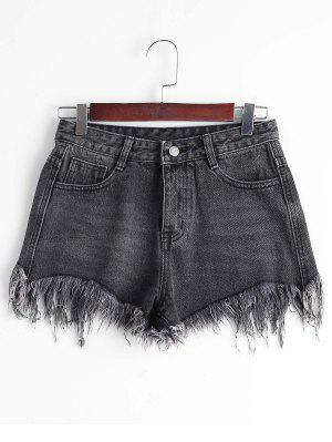 Pantalones Cortos De Cintura Alta - Negro Xl