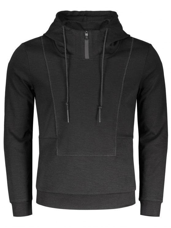 High Neck Pullover Hoodie BLACK: Hoodies & Sweatshirts 2XL | ZAFUL