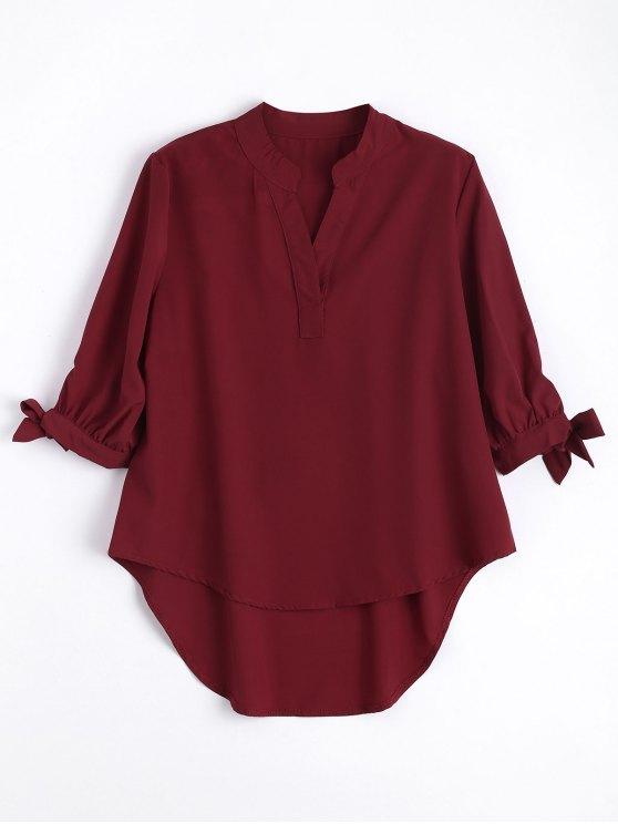Arco manga empatada alta Low blusa - Vino Rojo M