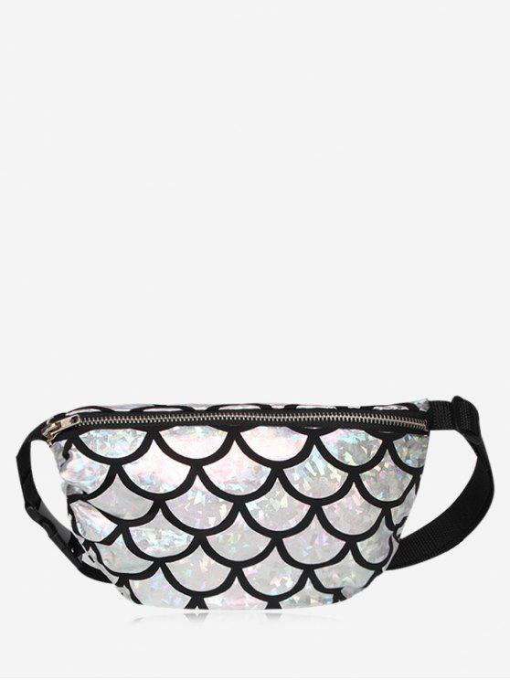 online Zipper Scale Pattern Fanny Pack - SILVER