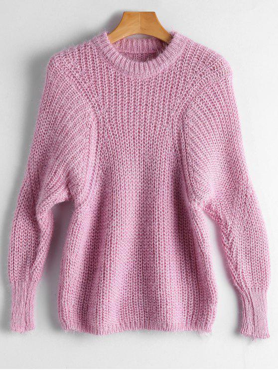 Suéter da dulmã liso rosa - Rosa Tamanho único