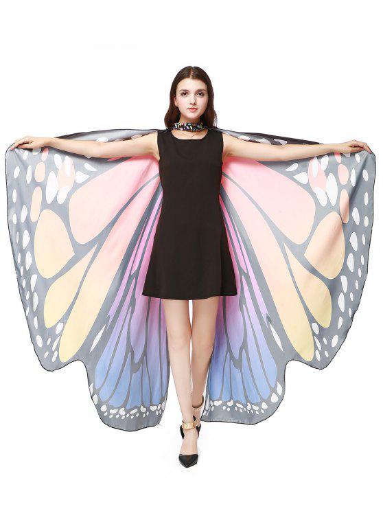 Chiffon Butterfly Strap Shape Wing Cape - Tutti Frutti