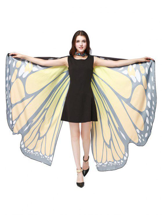 Chiffon Butterfly Strap Shape Wing Cape - Mandarim