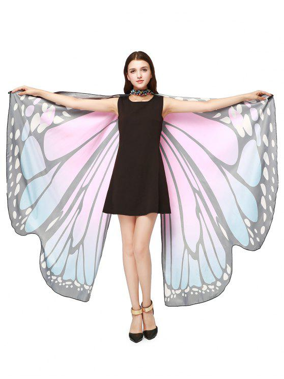 Chiffon Butterfly Strap Shape Wing Cape - Rose Clair