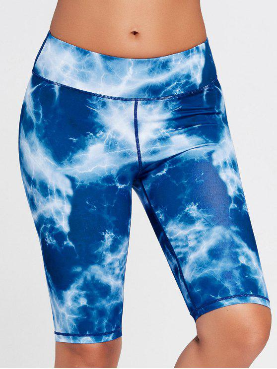 online Tie Dye Running Shorts - BLUE M